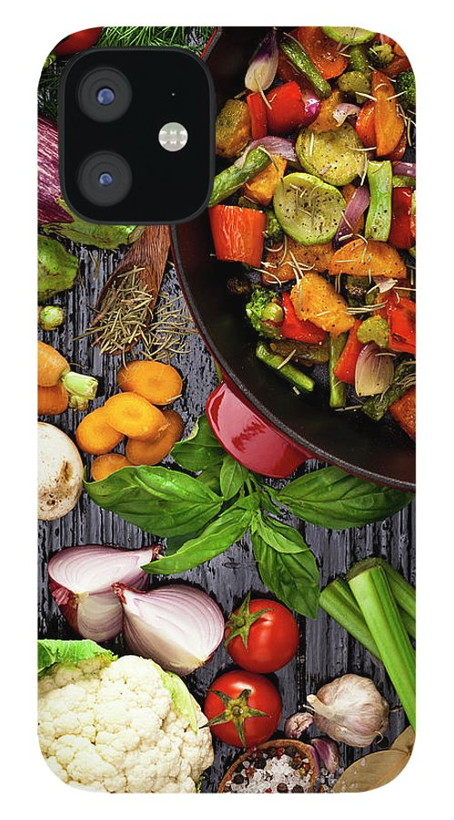 Broccoli IPhone 12 Case featuring the photograph Grilled Vegetables by Fcafotodigital