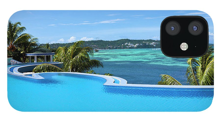 Scenics IPhone 12 Case featuring the photograph Infinity Swimming Pool by 35007