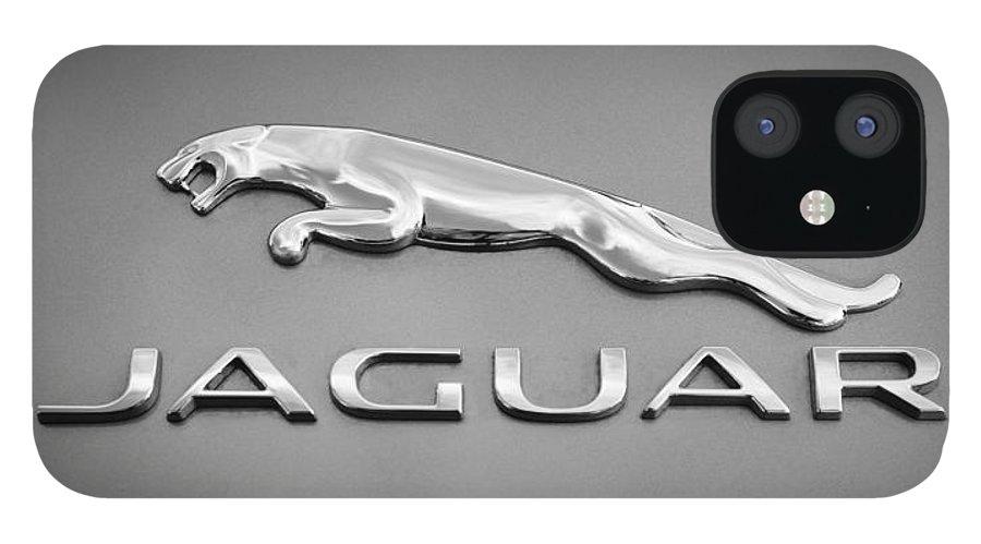 Jaguar F Type Emblem IPhone 12 Case featuring the photograph Jaguar F Type Emblem by Jill Reger