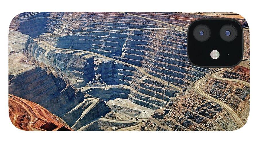 Mineral IPhone 12 Case featuring the photograph Kcgm. Gold Mine,western Australia by John W Banagan
