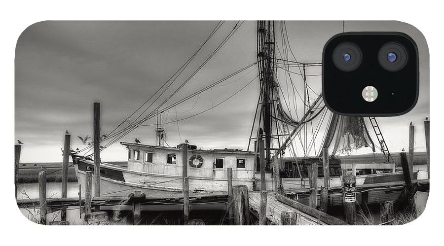 Shrimp Boat IPhone 12 Case featuring the photograph Lowcountry Shrimp Boat by Scott Hansen