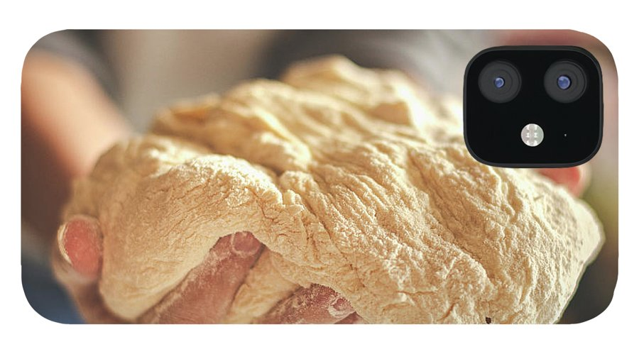 Kneading iPhone 12 Case featuring the photograph Making Yeast Dough by Nimis69
