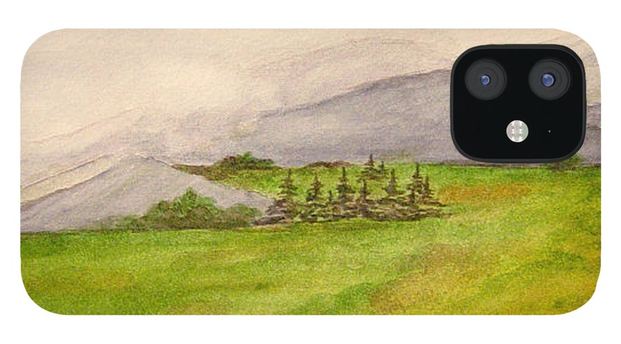 Paintings IPhone 12 Case featuring the painting Morning Fog by Regan J Smith