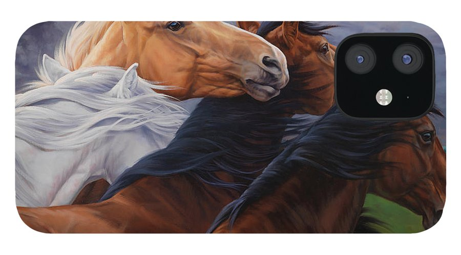 Michelle Grant iPhone 12 Case featuring the painting Mutual Support by JQ Licensing