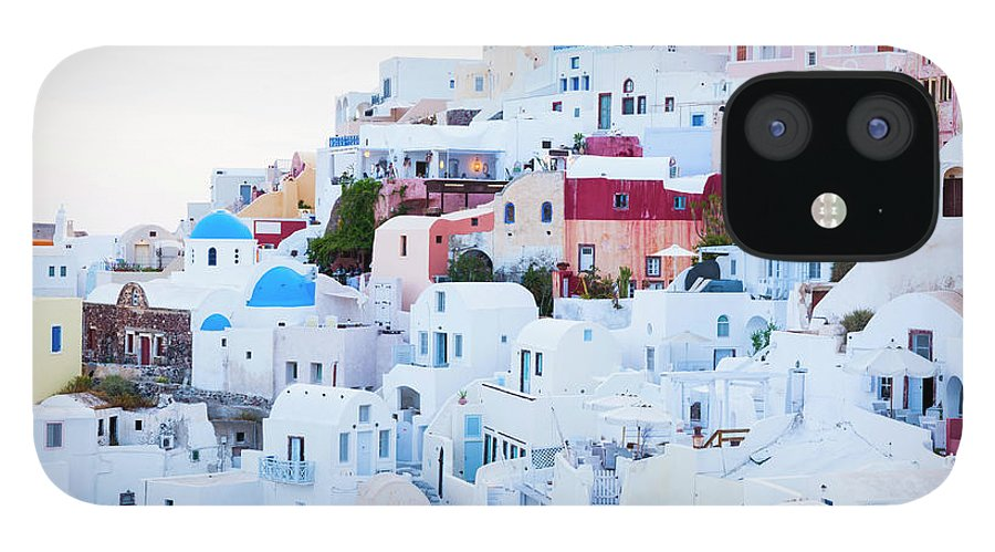 Tranquility IPhone 12 Case featuring the photograph Oia by Jorg Greuel