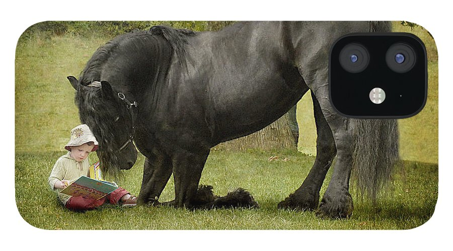 Friesian IPhone 12 Case featuring the photograph Once Upon A Time by Fran J Scott