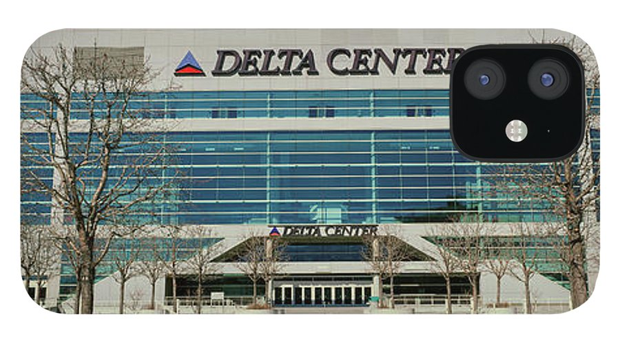 Photography IPhone 12 Case featuring the photograph Panoramic Of Delta Center Building by Panoramic Images