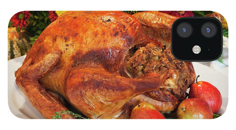 Stuffed IPhone 12 Case featuring the photograph Roast Turkey by Tetra Images