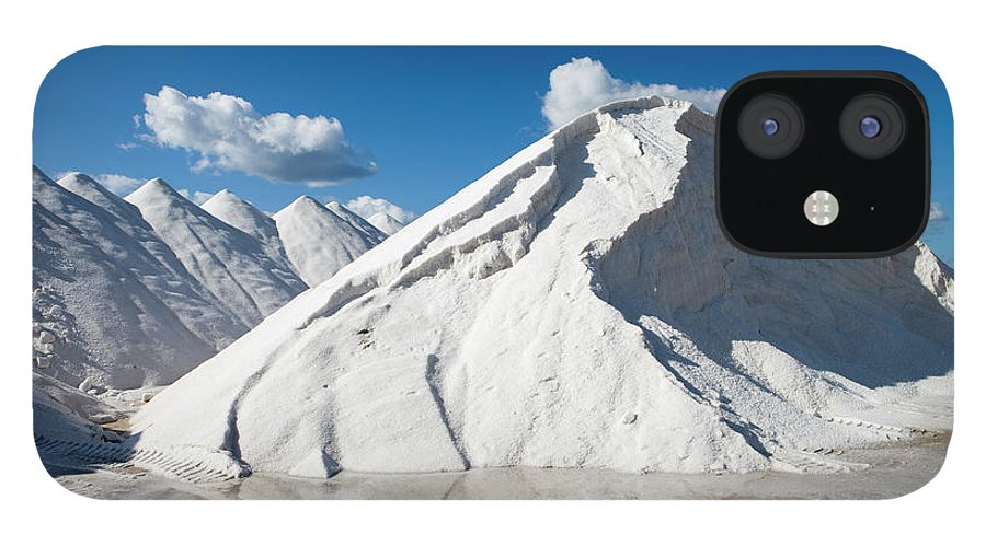 Working iPhone 12 Case featuring the photograph Salines De Llevant Salt Works by Holger Leue