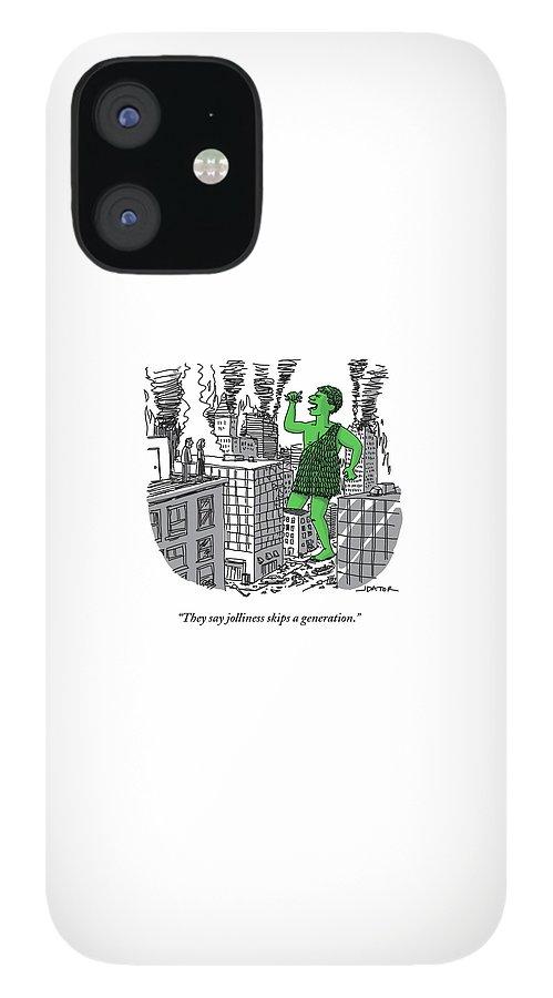 The Jolly Green Giant Walks Like Godzilla IPhone 12 Case