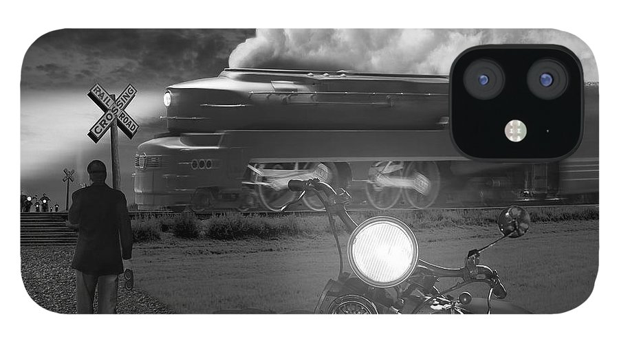 Transportation iPhone 12 Case featuring the photograph The Wait by Mike McGlothlen