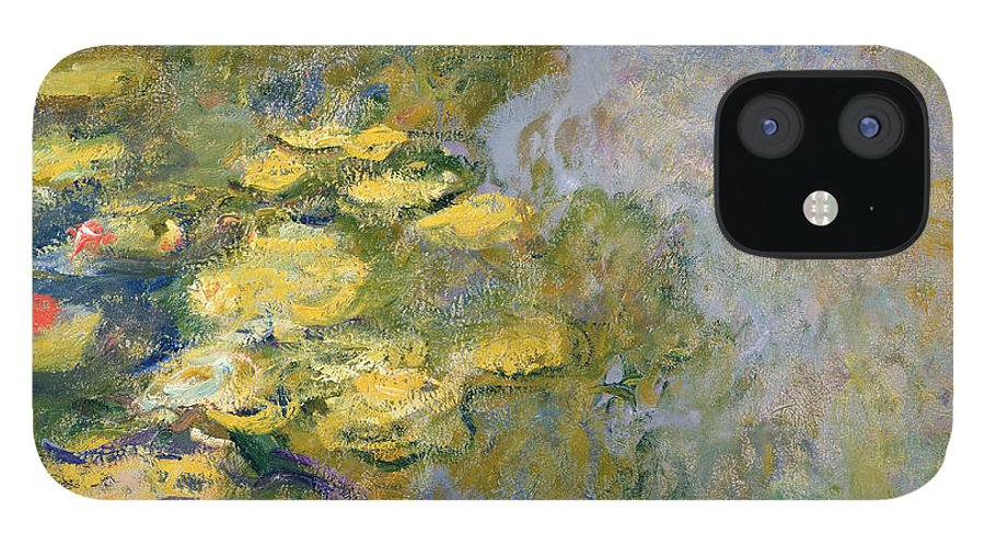 Impressionist IPhone 12 Case featuring the painting The Waterlily Pond by Claude Monet