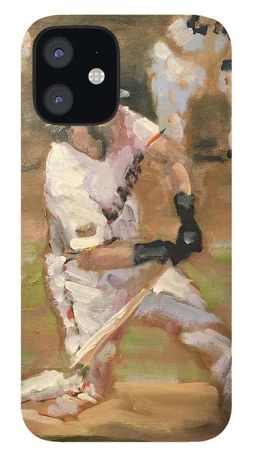 Sf Giants IPhone 12 Case featuring the painting Untitled 1 by Darren Kerr