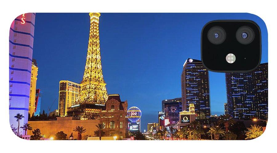 Las Vegas Replica Eiffel Tower IPhone 12 Case featuring the photograph Usa, Nevada, Las Vegas, Paris Las Vegas by Sylvain Sonnet