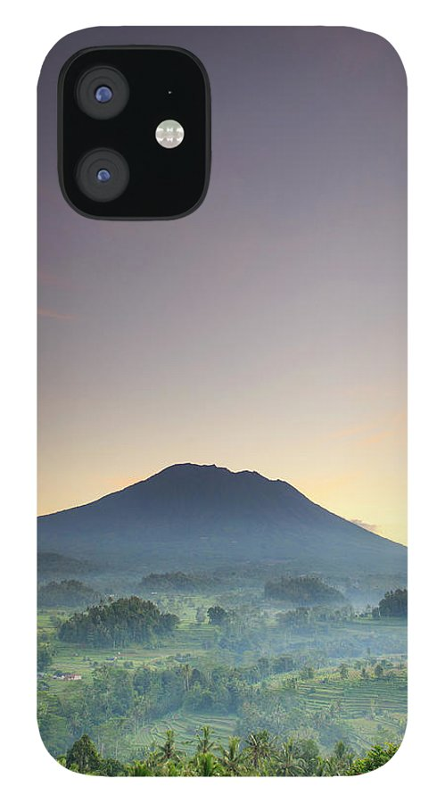 Scenics IPhone 12 Case featuring the photograph Indonesia, Bali, Rice Fields And by Michele Falzone