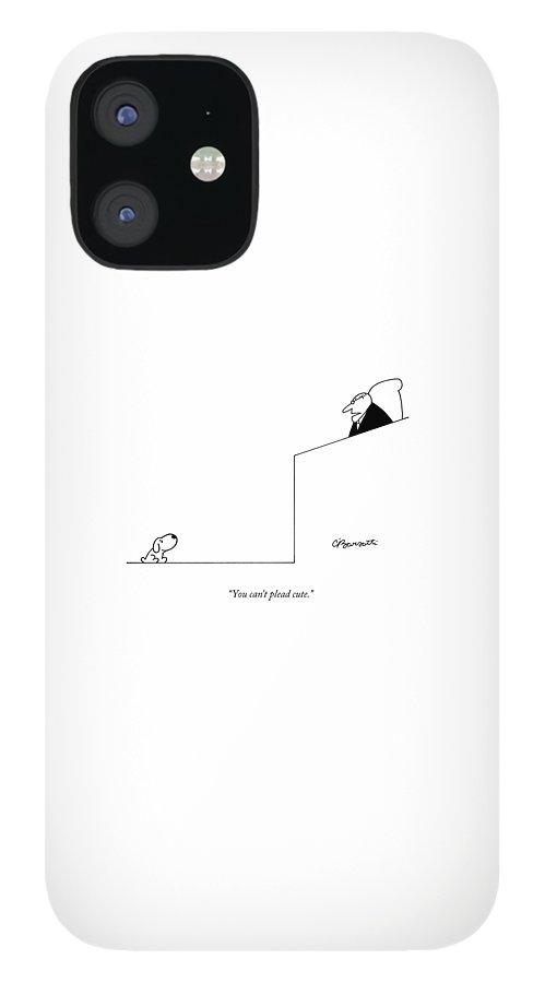 You Can't Plead Cute IPhone 12 Case