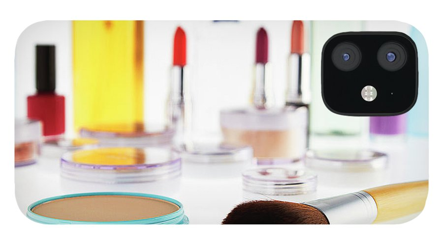 White Background IPhone 12 Case featuring the photograph Still Life Of Beauty Products by Stephen Smith