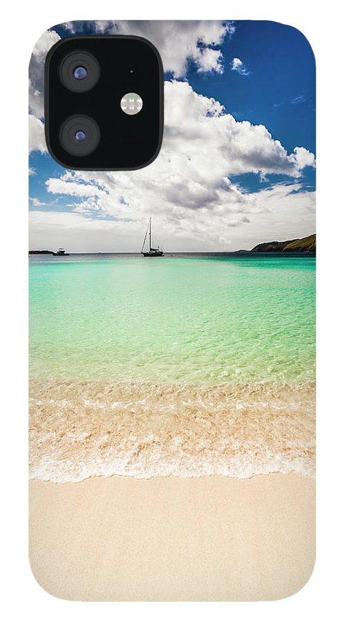 Tropical Tree IPhone 12 Case featuring the photograph Caribbean Beach by Guvendemir