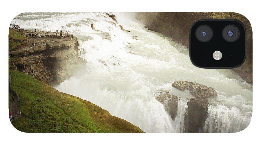 Gullfoss IPhone 12 Case featuring the photograph Gullfoss waterfall Iceland by Matthias Hauser