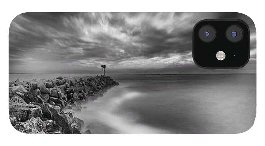IPhone 12 Case featuring the photograph Long Exposure Sunset At The Oceanside by Larry Marshall