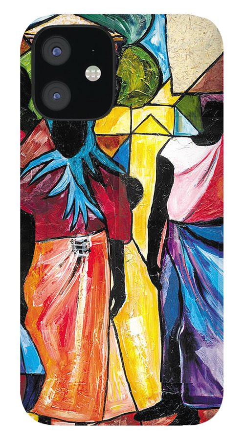 Everett Spruill iPhone 12 Case featuring the painting Road to the Market by Everett Spruill