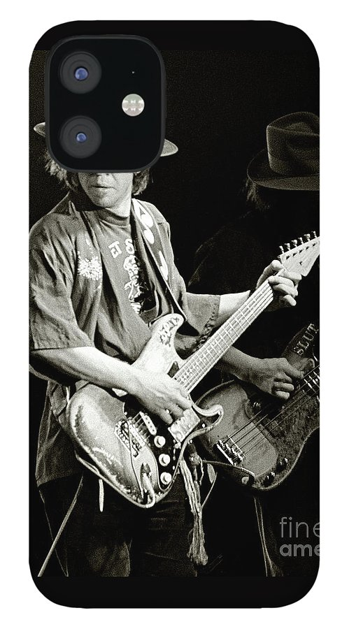 Stevie Ray IPhone 12 Case featuring the photograph Stevie Ray Vaughan 1984 by Chuck Spang