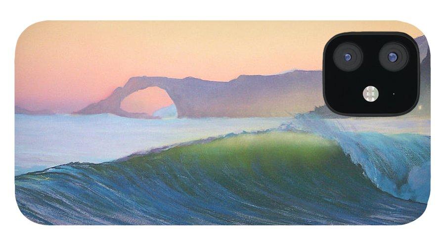 Ocean IPhone 12 Case featuring the painting Sunset Sonata by Philip Fleischer