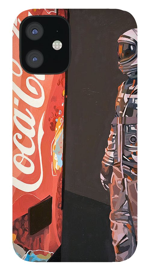 Astronaut IPhone 12 Case featuring the painting The Coke Machine by Scott Listfield