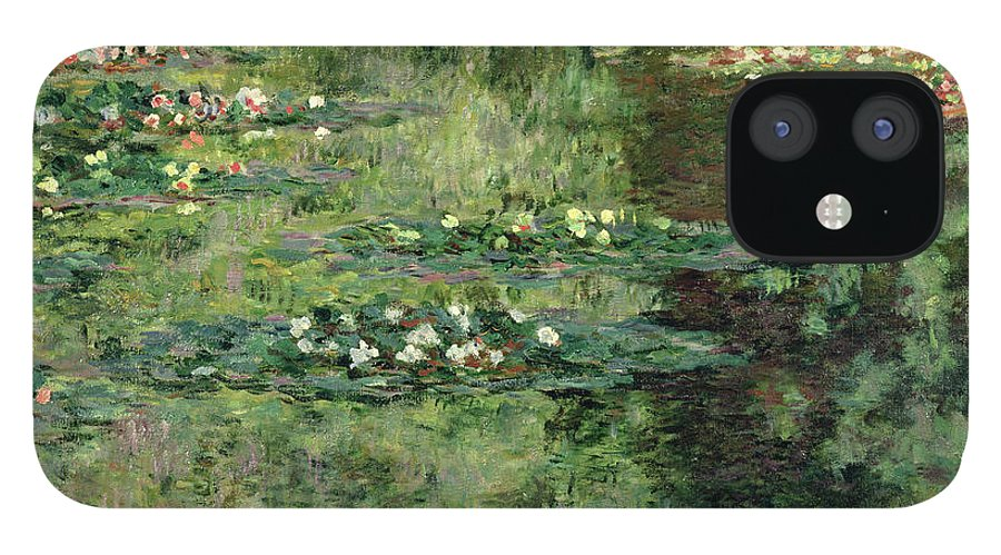 Etang Aux Nympheas IPhone 12 Case featuring the painting The Waterlily Pond by Claude Monet