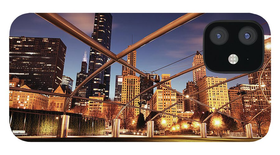 Downtown District IPhone 12 Case featuring the photograph Usa, Illinois, Chicago, Cityscape by Henryk Sadura