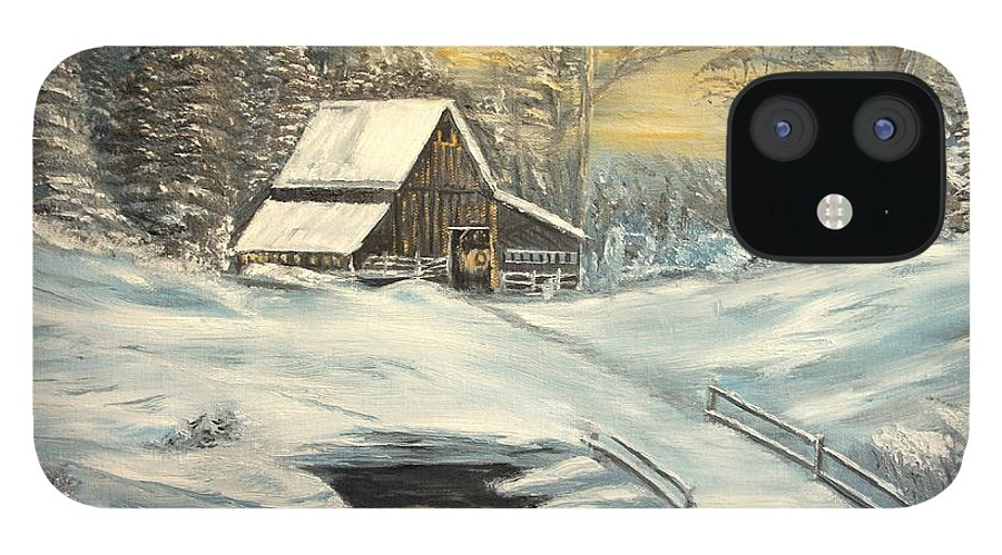Winter iPhone 12 Case featuring the painting Winter by Kenneth LePoidevin