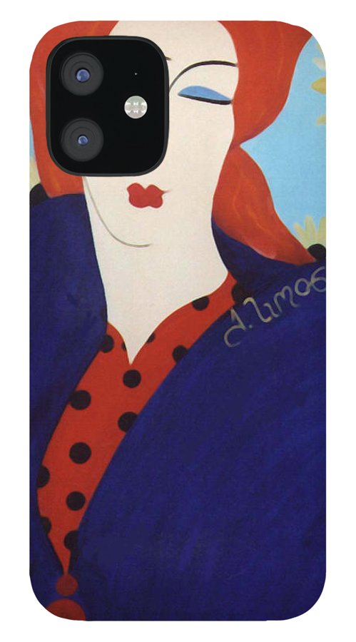 #female IPhone 12 Case featuring the painting 2001 Collection by Jacquelinemari