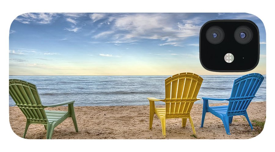 Chairs iPhone 12 Case featuring the photograph 3 Chairs by Scott Norris