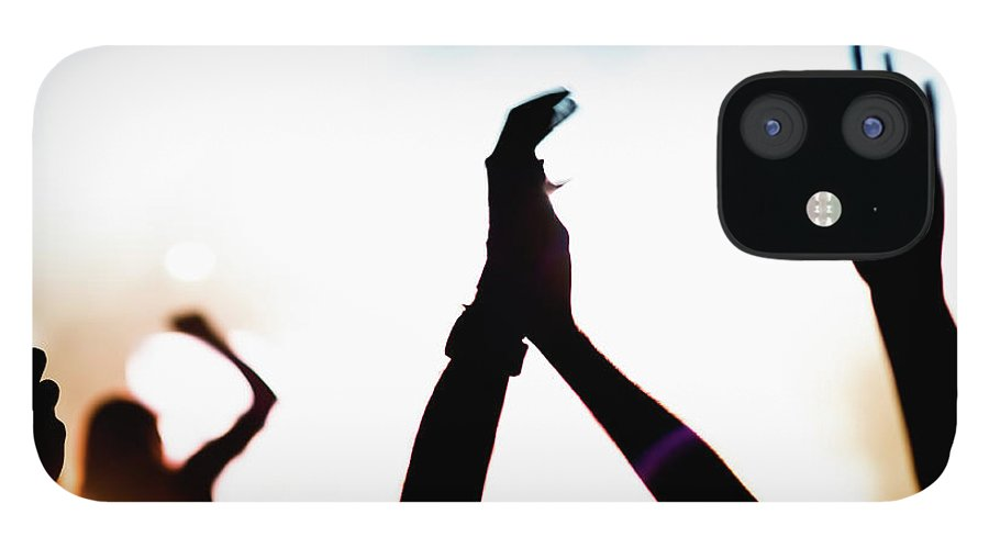 Rock Music IPhone 12 Case featuring the photograph Concert Crowd by Alenpopov