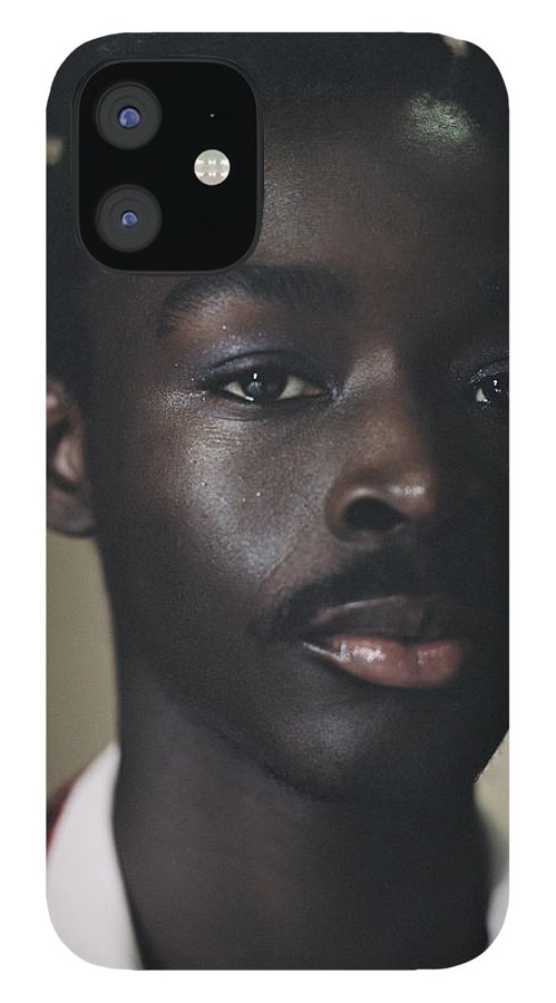Handsome People IPhone 12 Case featuring the photograph Portrait Of Young Person Holding by Campbell Addy