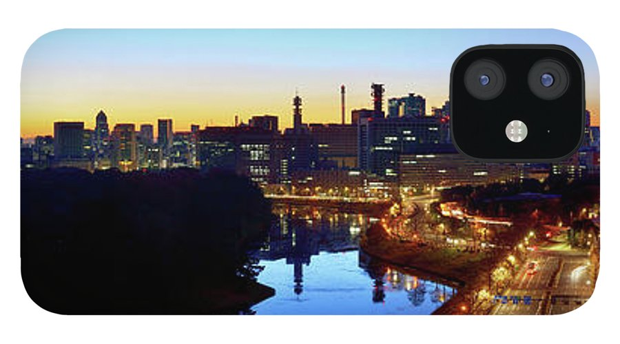 Tokyo Tower IPhone 12 Case featuring the photograph Tokyo Panorama At Sunrise by Vladimir Zakharov