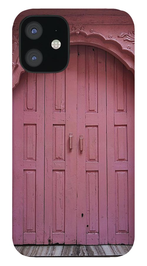 Description IPhone 12 Case featuring the photograph Old Doors India, Varanasi by Stereostok