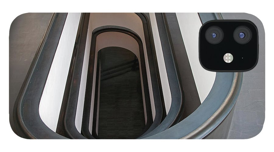 Italian Culture IPhone 12 Case featuring the photograph Spiral Staircase At The Vatican by Mitch Diamond