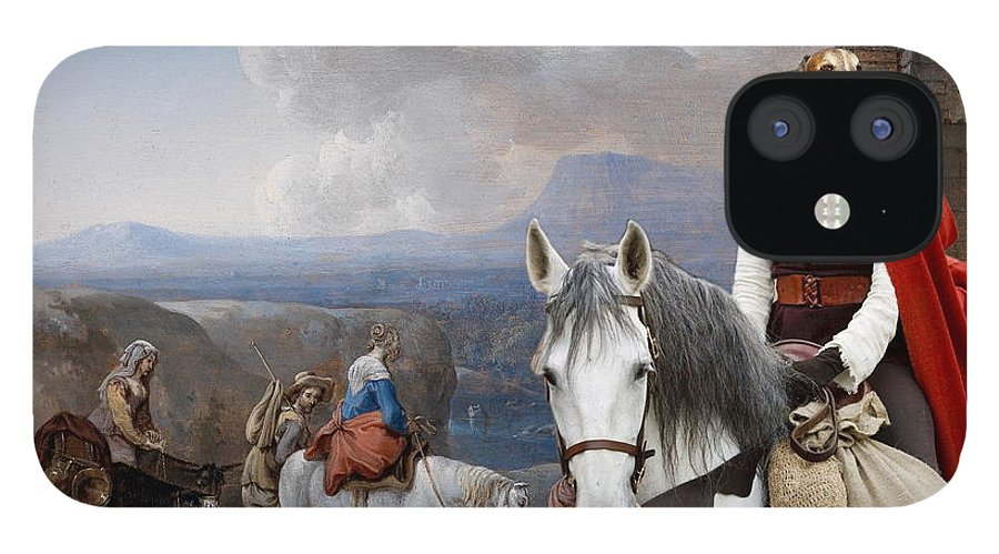 Borzoi IPhone 12 Case featuring the painting Borzoi - Russian Wolfhound Art Canvas Print by Sandra Sij