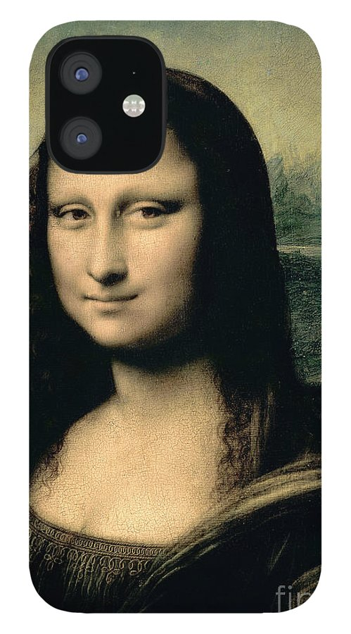 Leonardo IPhone 12 Case featuring the painting Mona Lisa by Leonardo Da Vinci