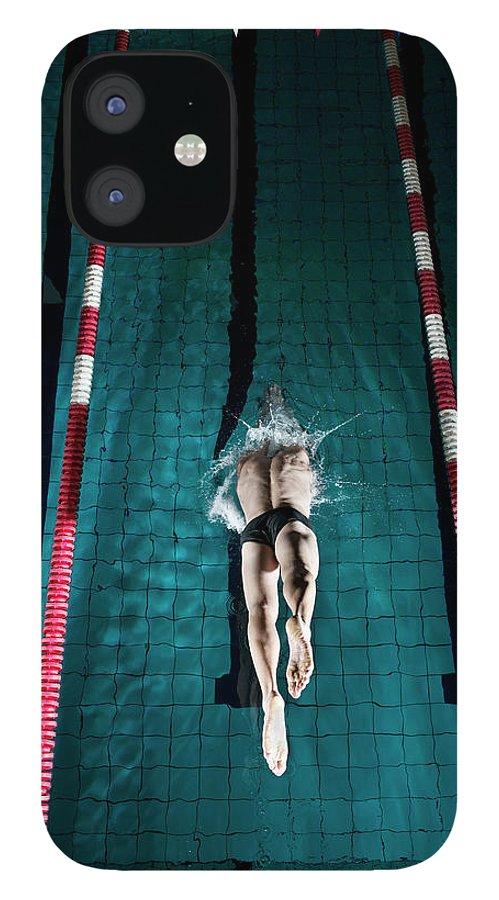 Copenhagen IPhone 12 Case featuring the photograph Professional Swimmer by Henrik Sorensen