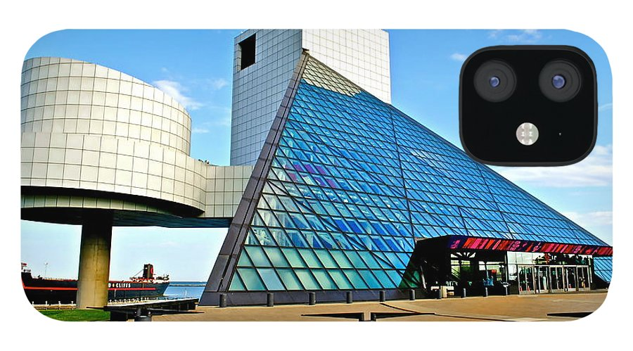 Rock IPhone 12 Case featuring the photograph Rock and Roll Hall of Fame by Frozen in Time Fine Art Photography
