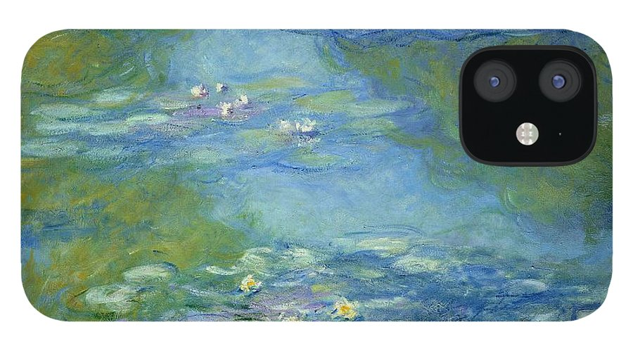 French IPhone 12 Case featuring the painting Waterlilies by Claude Monet