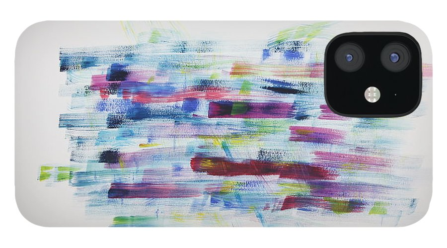 Mood IPhone 12 Case featuring the painting A Change of Mood by Tom Atkins
