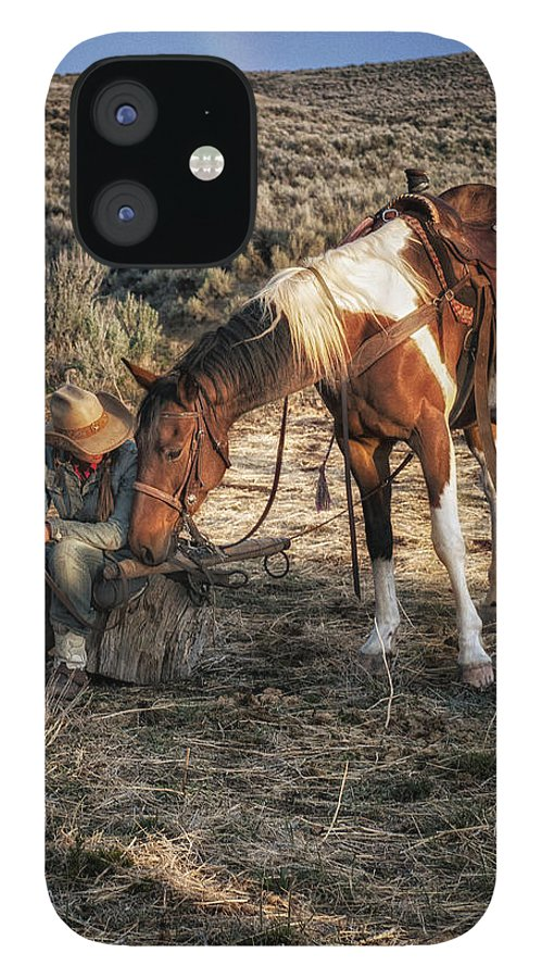 Sombrero Ranch IPhone 12 Case featuring the photograph A Cowgirls Best Friend by Pamela Steege