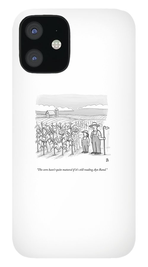 A Farmer And His Daughter Look At Cornstalks Who IPhone 12 Case