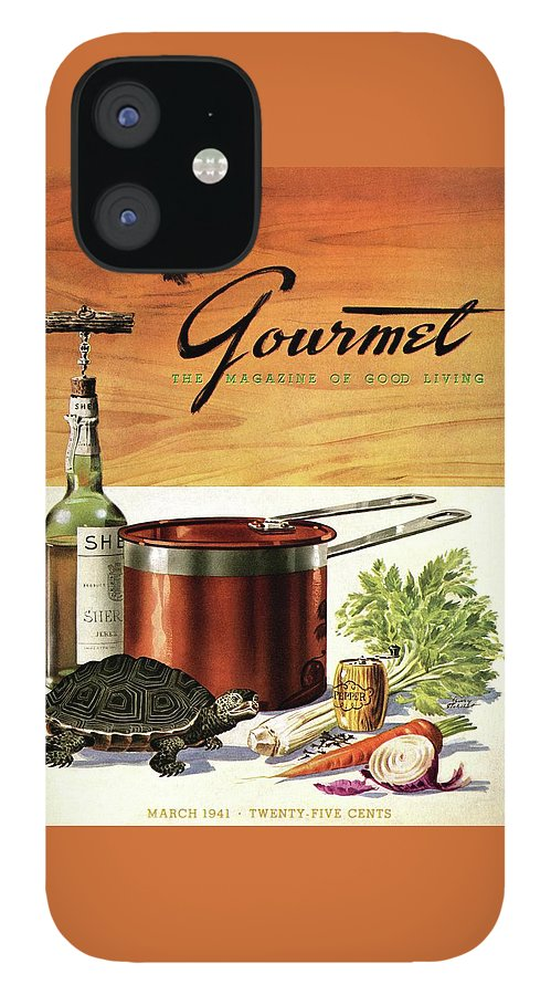 A Gourmet Cover Of Turtle Soup Ingredients IPhone 12 Case