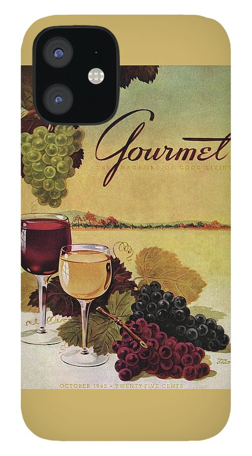 A Gourmet Cover Of Wine IPhone 12 Case