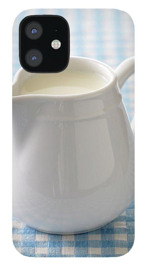 Single Object iPhone 12 Case featuring the photograph A Jug Of Cream by Riou
