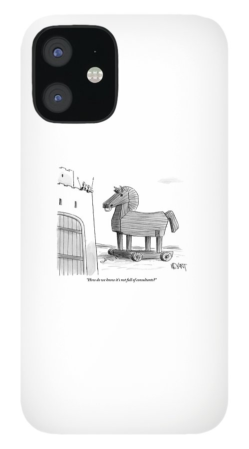 A Large Wooden Horse iPhone 12 Case